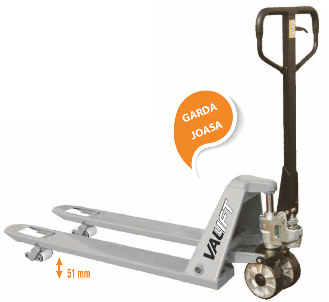 Transpaleta (liza) manuala garda joasa 51mm VALLIFT