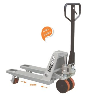 Transpalet manual cu furci scurte 670mm VALLIFT