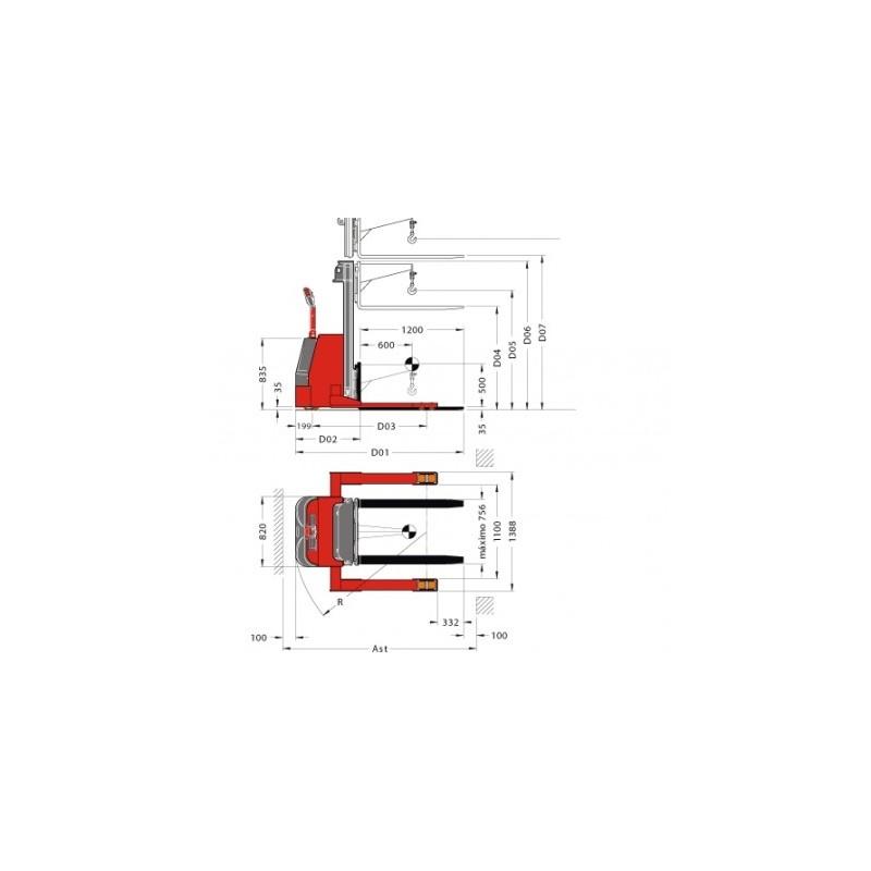 Electrostivuitor (stacker) PL13 SLG Pegasolift