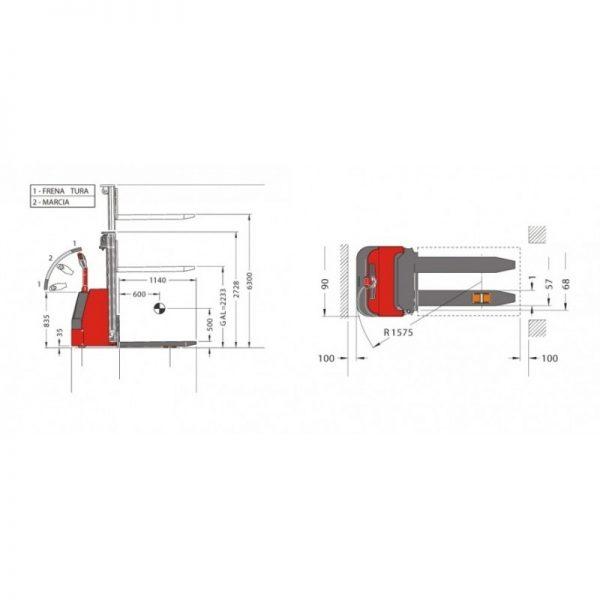 Electrostivuitor (stacker) PL16-63T Pegasolift