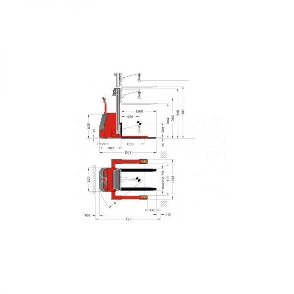 Electrostivuitor (stacker) PL20 SLG Pegasolift