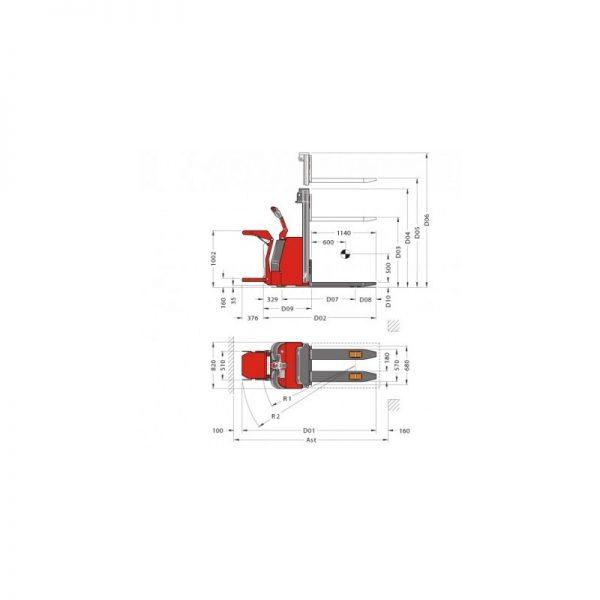 Stivuitor electric (stacker) PL Platforma Pegasolift