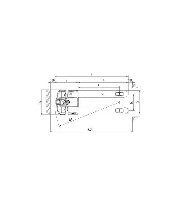 Transpaleta electrica PT E15