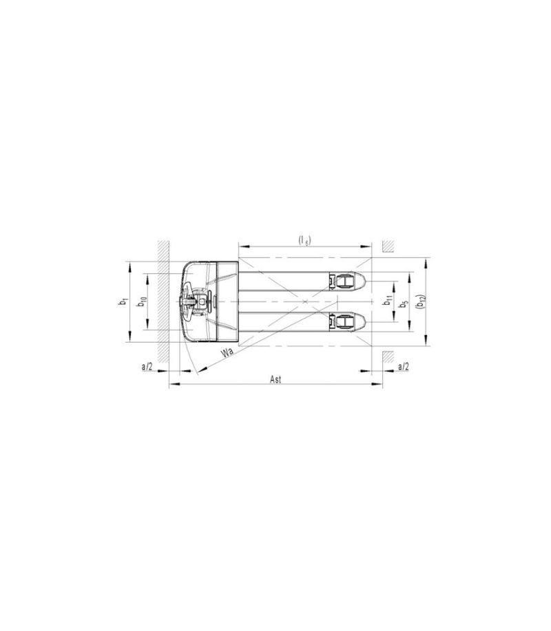 Transpaleta electrica PT 16L