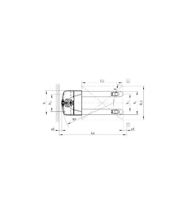 Transpaleta electrica PT E18L