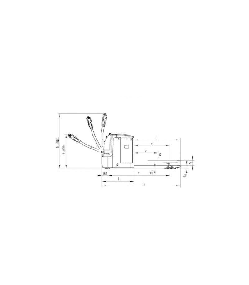 Transpaleta electrica PT 25L