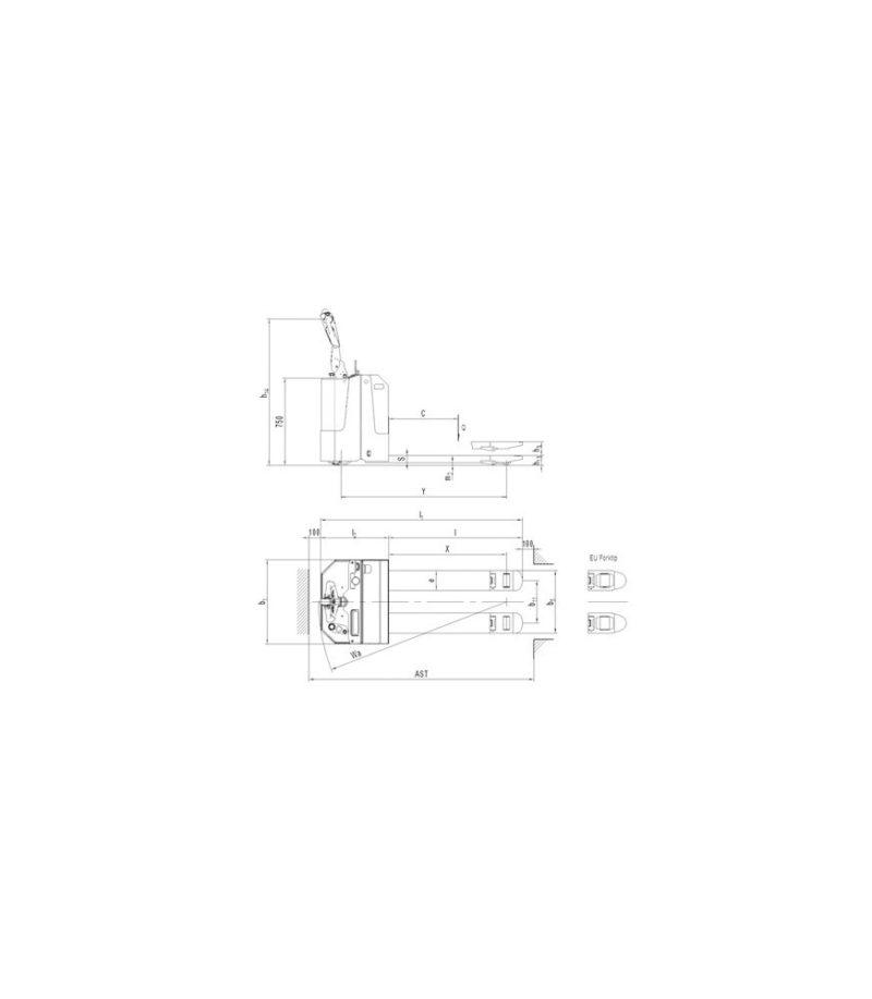 Transpaleta electrica PT E20