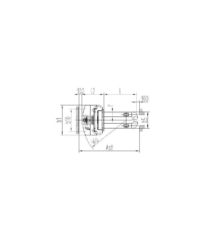 Transpaleta electrica cu catarg PS B15