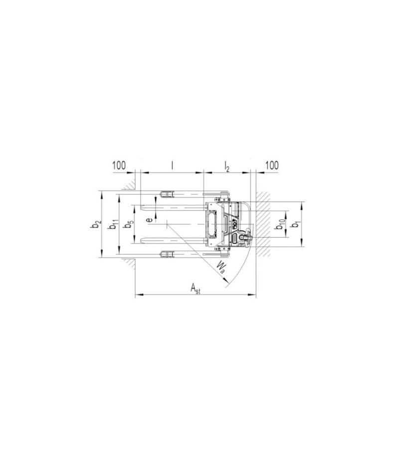 Transpaleta electrica cu furci departate PS 16L-SL